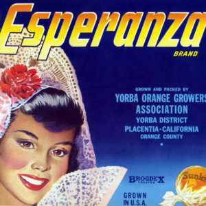 Esperanza citrus label