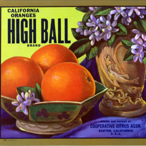 High Ball Brand citrus label
