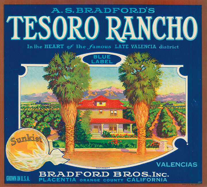 Tesoro Rancho citrus label